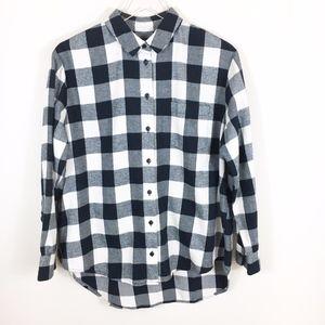 Madewell Flannel Oversized Buffalo Check Shirt